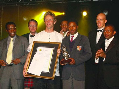 Nemato Rowing Club receiving the Jack Cheetham Award at the Sandton Sun Hotel