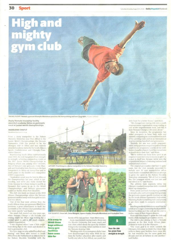 "Daily Dispatch: ""High and mighty gym club"""