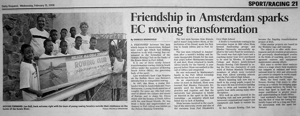 "Daily Dispatch: ""Friendship in Amsterdam sparks EC rowing transformation"""