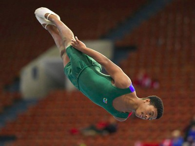 Onke at the Senior World Champs