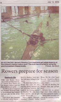 "Talk of the Town: ""Rowers prepare for season"""