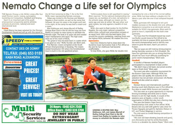 "Talk of the Town: ""Nemato Change a Life set for Olympics"""