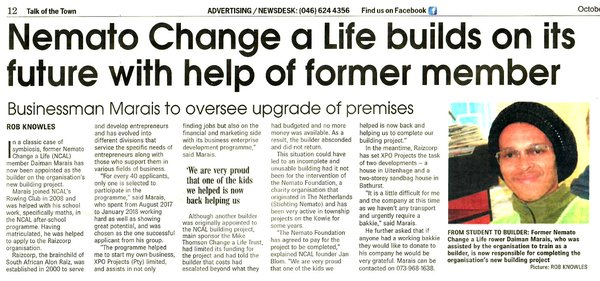 "Talk of the Town: ""Businessman Marais to oversee upgrade of premises"""