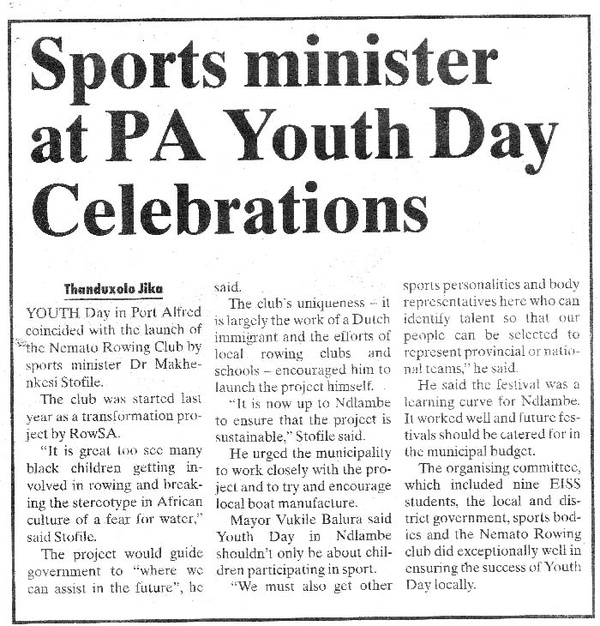 Talk of the Town: Sports minister at PA Youth Day Celebrations""