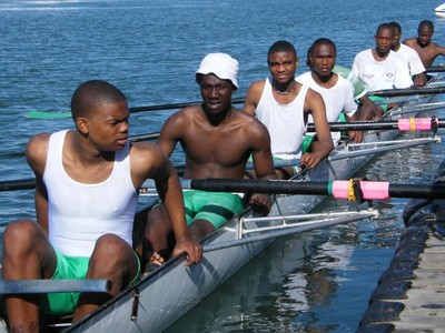 Nemato after rowing at University Boat Race