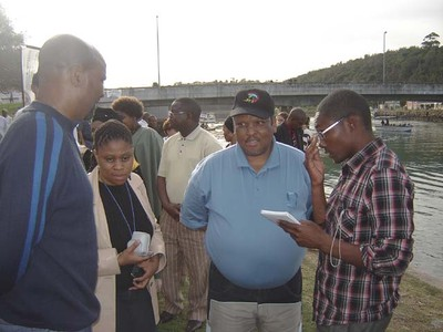 Minister Stofile interviewed by Talk of the Town journalist Thanduxolo Jika