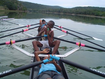 Nemato rowers on camp